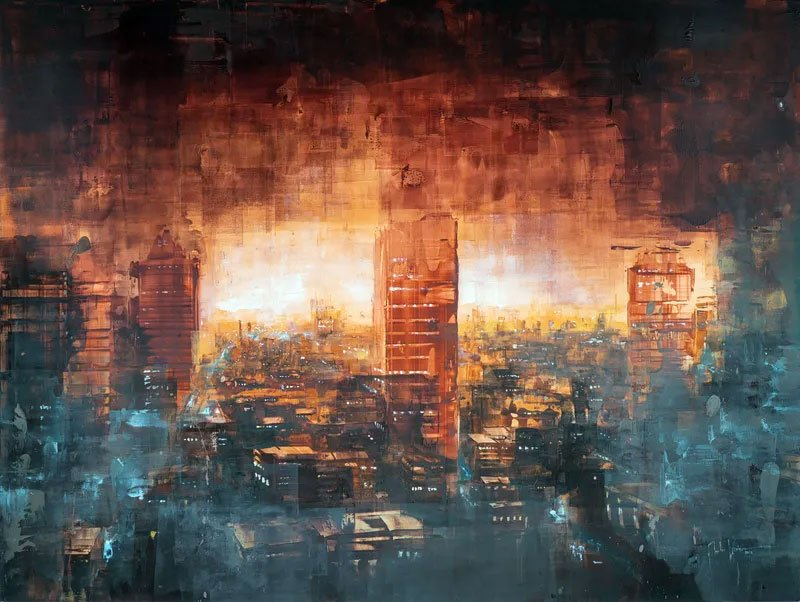 Berlin Sunrise Painting by Martin Koster